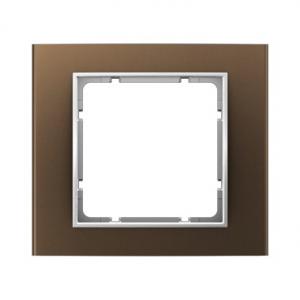 Berker 10113021 Рамкa, B.3, алюминий, цвет: коричневый/полярная белизна серия  купить в Москве, цена в России: опт, розница | sm