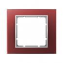 10113022 Рамкa, B.3, алюминий, цвет: красный/полярная белизна