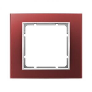 Berker 10113022 Рамкa, B.3, алюминий, цвет: красный/полярная белизна серия  купить в Москве, цена в России: опт, розница | smart