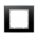 10113025 Рамкa, B.3, алюминий, цвет: черный/полярная белизна