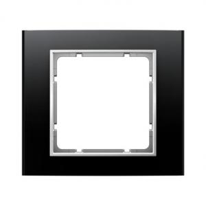 Berker 10113025 Рамкa, B.3, алюминий, цвет: черный/полярная белизна серия  купить в Москве, цена в России: опт, розница   smarti