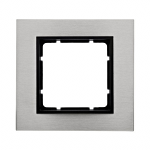 Berker 10113606 Рамкa B.7, нержавеющая сталь, цвет: антрацитовый серия  купить в Москве, цена в России: опт, розница | smartipad