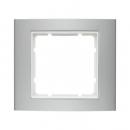 "10113904 Рамка 1-я, Цвет:""алюминий/белый"""