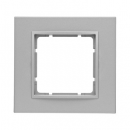 10116424 Рамкa B.7, 1-местная, алюминий, цвет: антрацитовый