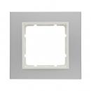 10116914 Рамкa B.7, 1-местная, алюминий, цвет: полярная белизна