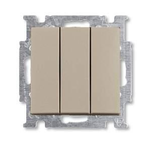 1012-0-2163 (106/3/1 UC-93) BJB Basic 55 Шамп Выключатель 3-клавишный, 16А