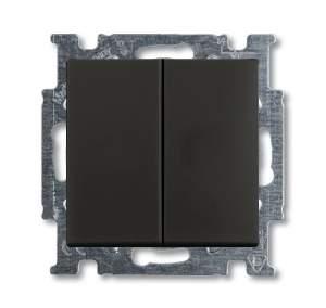 1012-0-2177 (2006/5 UC-95) BJB Basic 55 Шато (чёрн) Выключатель 2-х клавишный