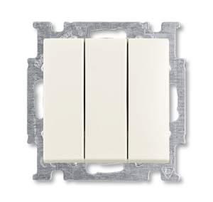 1012-0-2183 (106/3/1 UC-96) BJB Basic 55 Шале (бел) Выключатель 3-клавишный, 16А