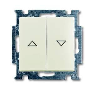 1012-0-2186 (2006/4 UC-96) BJB Basic 55 Шале (бел) Выключатель жалюзийный