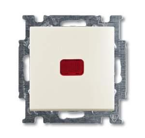 1012-0-2190 (2006/6 UCK-96) BJB Basic 55 Шале (бел) Переключатель 1-клавишный с подсветкой и N-клеммой