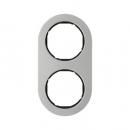 10122004 Рамка R.Classic, 2-местная, нержавеющая сталь цвет: черный