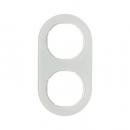 10122009 Рамка R.Classic, 2-местная, стекло, цвет: полярная белизна