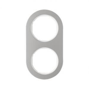 Berker 10122014 Рамка R.Classic, 2-местная, нержавеющая сталь цвет: полярная белизна серия  купить в Москве, цена в России: опт,