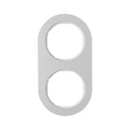Berker 10122074 Рамка, R.Classic, 2-местная, алюминий, цвет: полярная белизна (128,15) серия  купить в Москве, цена в России: оп