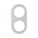10122074 Рамка, R.Classic, 2-местная, алюминий, цвет: полярная белизна (128,15)