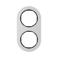Berker 10122084 Рамка, R.Classic, 2-местная, алюминий, цвет: черный (128,15) серия  купить в Москве, цена в России: опт, розница