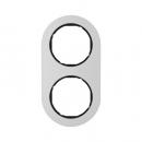 10122084 Рамка, R.Classic, 2-местная, алюминий, цвет: черный (128,15)