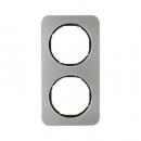 10122104 Рамка R.1, 2-местная, нержавеющая сталь цвет: черный