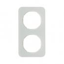 10122109 Рамка R.1, 2-местная, стекло, цвет: полярная белизна