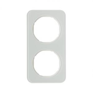Berker 10122109 Рамка R.1, 2-местная, стекло, цвет: полярная белизна серия  купить в Москве, цена в России: опт, розница | smart