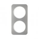 10122114 Рамка R.1, 2-местная, нержавеющая сталь цвет: полярная белизна
