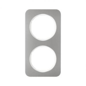 Berker 10122114 Рамка R.1, 2-местная, нержавеющая сталь цвет: полярная белизна серия  купить в Москве, цена в России: опт, розни