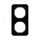 10122116 Рамка R.1, 2-местная, стекло, цвет: черный