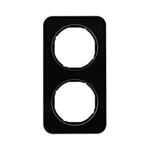 Berker 10122116 Рамка R.1, 2-местная, стекло, цвет: черный серия  купить в Москве, цена в России: опт, розница | smartipad.ru