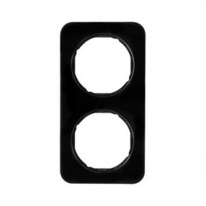 Berker 10122145 Рамка R.1, 2-местная, цвет: черный серия  купить в Москве, цена в России: опт, розница | smartipad.ru