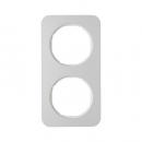 10122174 Рамка R.1, 2-местная, алюминий, цвет: полярная белизна