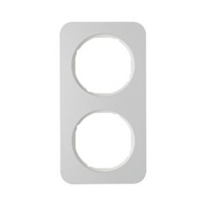Berker 10122174 Рамка R.1, 2-местная, алюминий, цвет: полярная белизна серия  купить в Москве, цена в России: опт, розница | sma