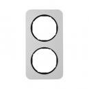 10122184 Рамка R.1, 2-местная, алюминий, цвет: черный