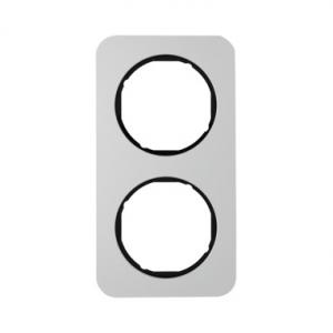 Berker 10122184 Рамка R.1, 2-местная, алюминий, цвет: черный серия  купить в Москве, цена в России: опт, розница | smartipad.ru
