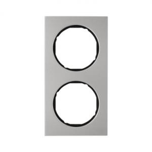 Berker 10122204 Рамка R.3, 2-местная, нержавеющая сталь цвет: черный серия  купить в Москве, цена в России: опт, розница   smart