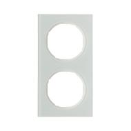 Berker 10122209 Рамка R.3, 2-местная, стекло, цвет: полярная белизна серия  купить в Москве, цена в России: опт, розница   smart