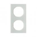 10122209 Рамка R.3, 2-местная, стекло, цвет: полярная белизна