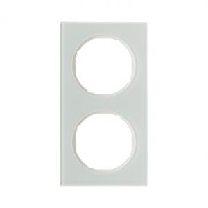 Berker 10122209 Рамка R.3, 2-местная, стекло, цвет: полярная белизна серия  купить в Москве, цена в России: опт, розница | smart