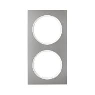Berker 10122214 Рамка R.3, 2-местная, нержавеющая сталь цвет: полярная белизна серия  купить в Москве, цена в России: опт, розни