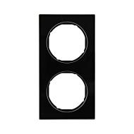 Berker 10122216 Рамка R.3, 2-местная, стекло, цвет: черный серия  купить в Москве, цена в России: опт, розница   smartipad.ru