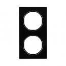 10122216 Рамка R.3, 2-местная, стекло, цвет: черный