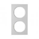10122274 Рамка R.3, 2-местная, алюминий, цвет: полярная белизна