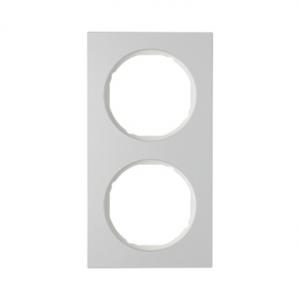 Berker 10122274 Рамка R.3, 2-местная, алюминий, цвет: полярная белизна серия  купить в Москве, цена в России: опт, розница   sma