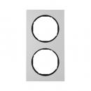 10122284 Рамка R.3, 2-местная, алюминий, цвет: черный