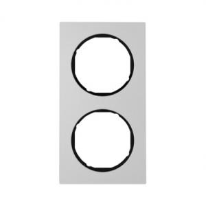 Berker 10122284 Рамка R.3, 2-местная, алюминий, цвет: черный серия  купить в Москве, цена в России: опт, розница   smartipad.ru