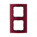 10123012 Рамкa B.3, алюминий, цвет: красный/антрацитовый