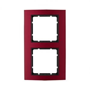 Berker 10123012 Рамкa B.3, алюминий, цвет: красный/антрацитовый серия  купить в Москве, цена в России: опт, розница | smartipad.