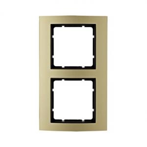 Berker 10123016 Рамкa B.3, алюминий, цвет: золотой/антрацитовый серия  купить в Москве, цена в России: опт, розница | smartipad.