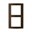 10123021 Рамкa B.3, алюминий, цвет: коричневый/полярная белизна