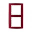 10123022 Рамкa B.3, алюминий, цвет: красный/полярная белизна