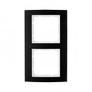 10123025 Рамкa B.3, алюминий, цвет: черный/полярная белизна